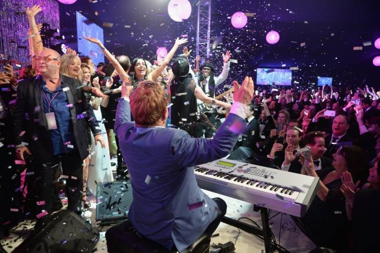 Elton John AIDS Foundation 2015 viewing party 1