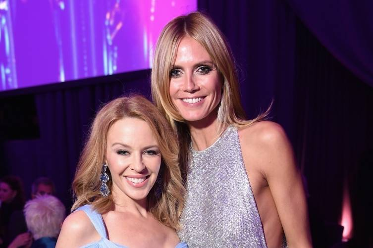 Kylie Minogue and Heidi Klum
