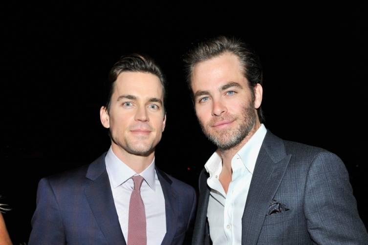 Matt Bomer and Chris Pine attended Giorgio Armani's pre-Oscar party