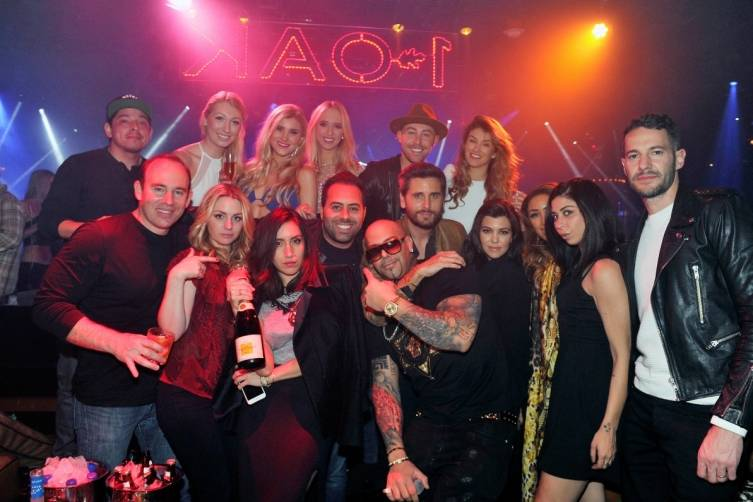 Scott Disick, Kourtney Kardashian and friends at 1 OAK.