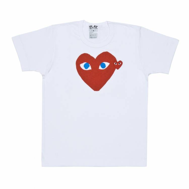 AZ-T085 White with Red Heart, $120