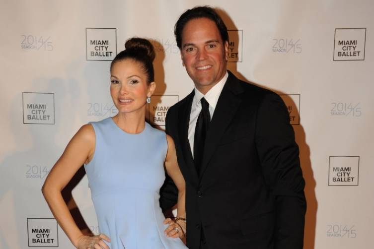 Alicia & Mike Piazza on the red carpet for Miami City Ballet Gala 2015