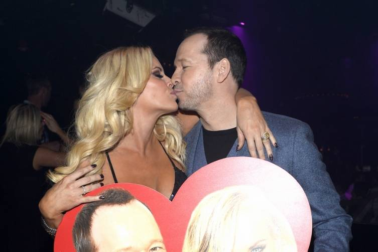 Jenny McCarthy and Donnie Wahlberg at 1 OAK.