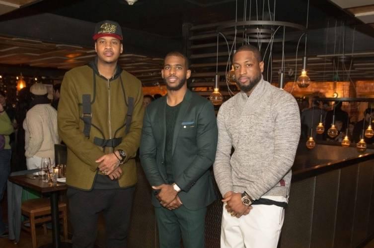 Carmelo Anthony, Chris Paul, Dwyane Wade