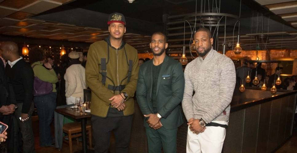 Carmelo Anthony, Dwayne Wade and Chris Paul Host All-Star Dinner