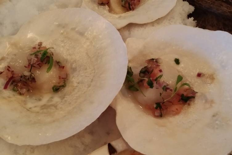 Ceviche scallops at La Mar