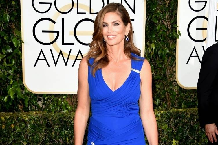 Cindy Crawford attends the 72nd Annual Golden Globe Awards at The Beverly Hilton Hotel