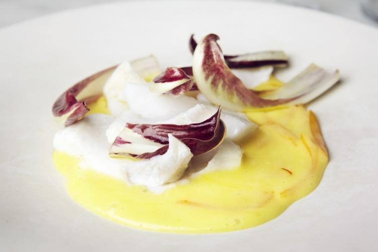 Cod, radicchio and saffron butter