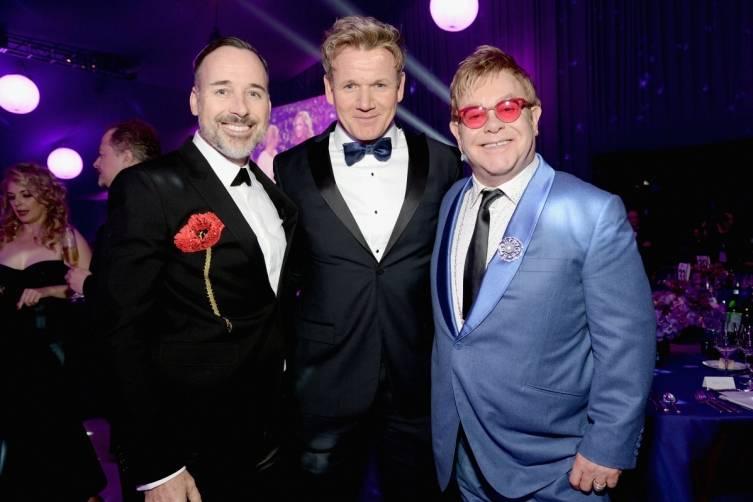 David Furnish, Gordon Ramsay and Elton John