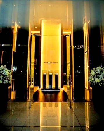 The grand entrance to Richard Mille's flagship store in The Dubai Mall.