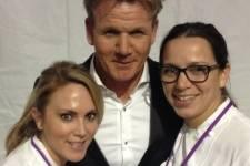GRG director of culinary operations Andi Van Willigan, Gordon Ramsay and chef Christina Wilson