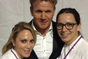 GRG Director of Culinary Operations Andi Van Willigan, Gordon Ramsay, Chef Christina Wilson