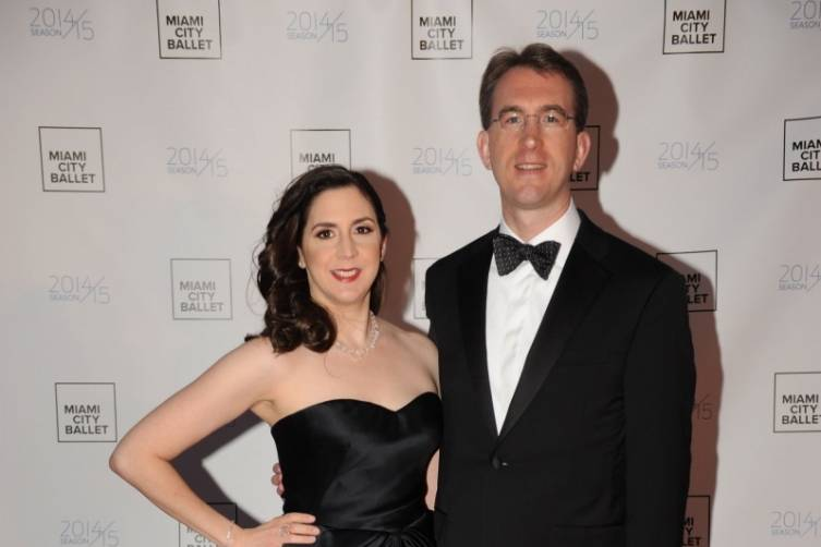 Gala Chairs Ana & Robert Barlick at the Miami CIty Ballet Gala 2015