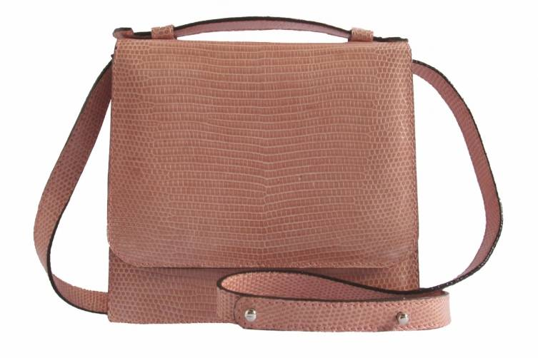 Hunting Season Flamingo Pink Lizard Crossbody