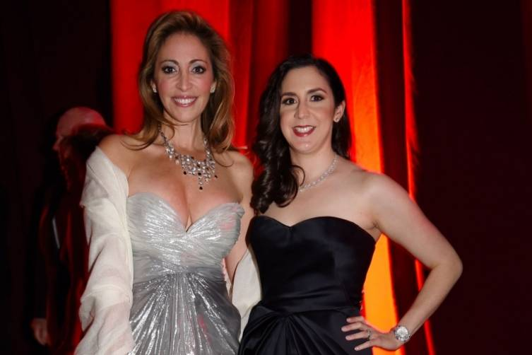 Jessica Goldman Srebnick with Gala Chair Ana-Marie Codina Barlick at the Miami City Ballet Gala 2015