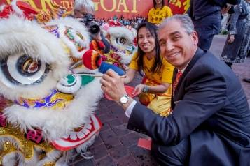 John Caparella, president and COO of The Venetian, The Palazzo, and Sands Expo participates in the Chinese New Year Eye Ceremony