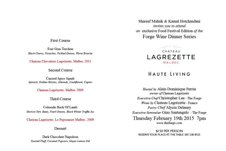 LAGREZETTE MALBEC DINNER INSIDE