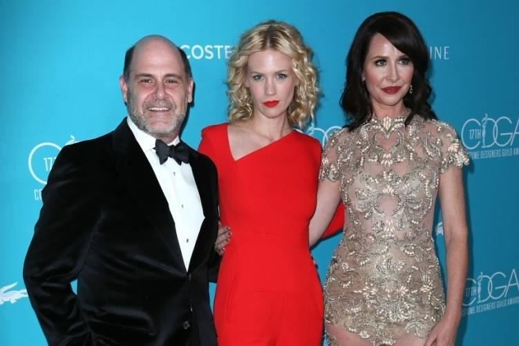 Matthew Weiner, January Jones and Janie Bryant