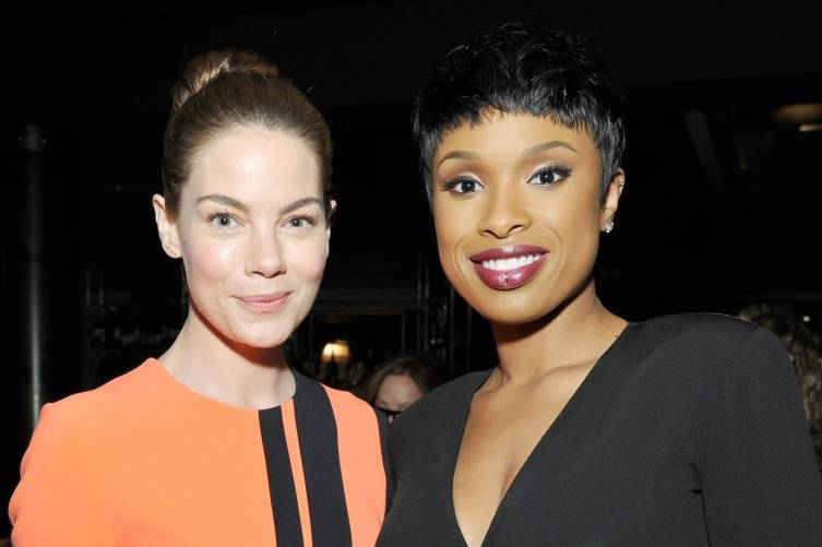 Michelle Monaghan and Jennifer Hudson at WIFs pre-Oscar soiree