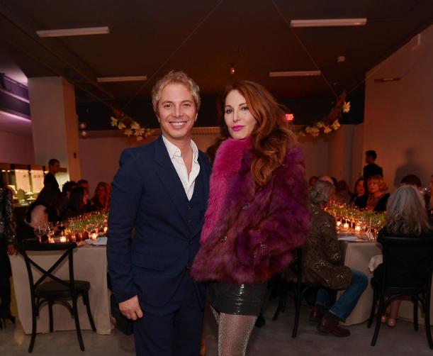 Nick D'Annunzio & Tara Solomon at dinner