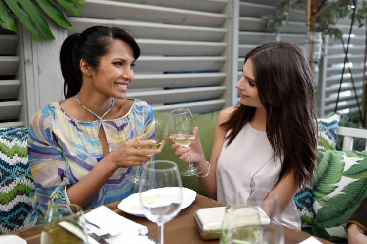Padma Lakshmi and Emily Ratajkowski