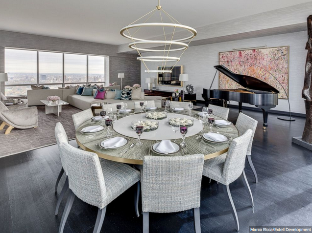 View Of The Living Area At A Model Apartment In One57