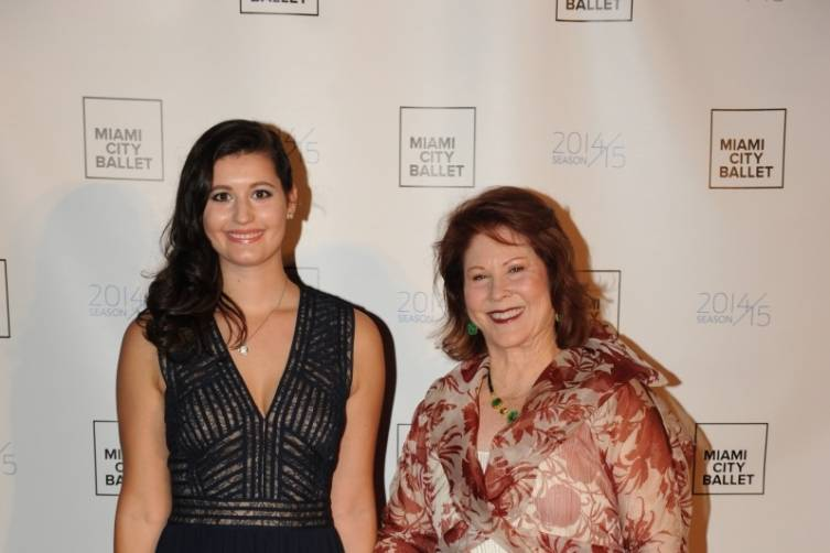 Sara and Claudia Perles celebrate the announcement of the Perles $1M gift to Miami City Ballet at the 2015 Gala