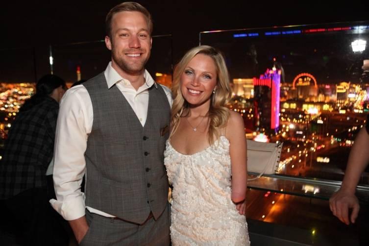 Sarah Herron and her boyfriend on Ghostbar's patio.