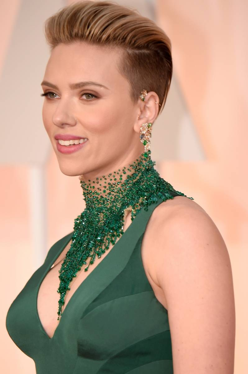 ScarlettJohansson at the 87th annual Oscars