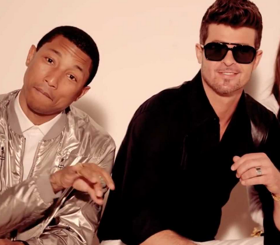 "from the ""Blurred Lines"" video"