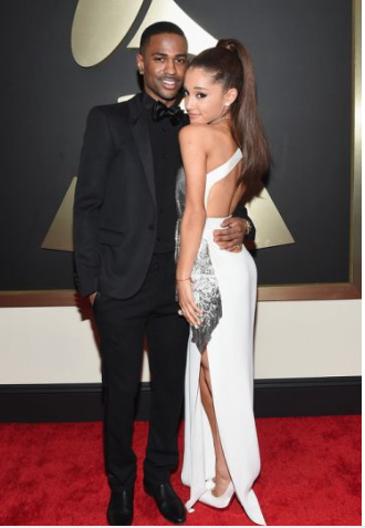 Ariana Grande in Versace at The Grammys 2015