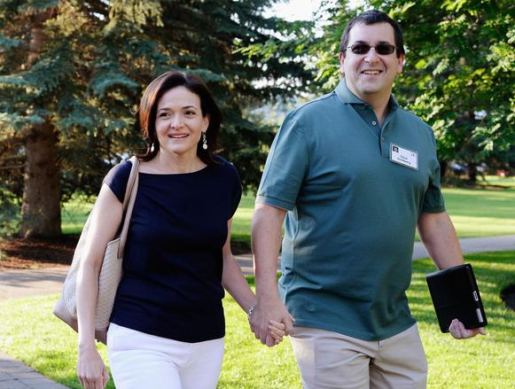 Sheryl Sandberg and Dave