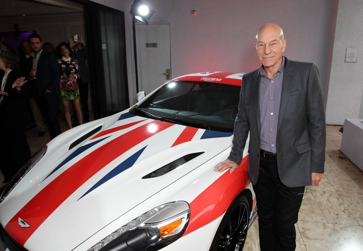 Ali landry car interior design - Sir Patrick Stewart Attends The Great British Film Reception