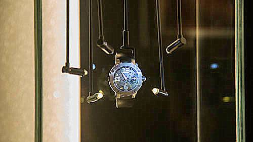 Exquisite lighting is devoted to the elegant timepieces throughout the Richard Mille boutique.