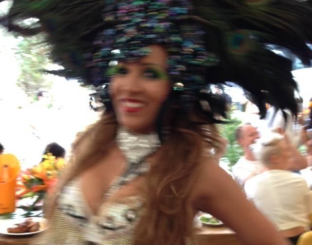 Samba Dancer at Veuve Cliquot VIP Brunch
