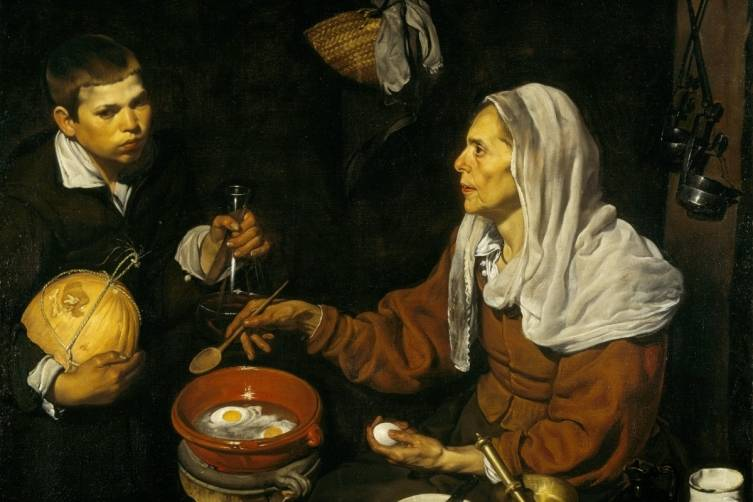 Diego Velázquez, An Old Woman Cooking Eggs, 1618. Oil on canvas