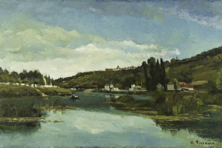 Camille Pissarro, The Marne at Chennevières, ca.1864–65. Oil on canvas
