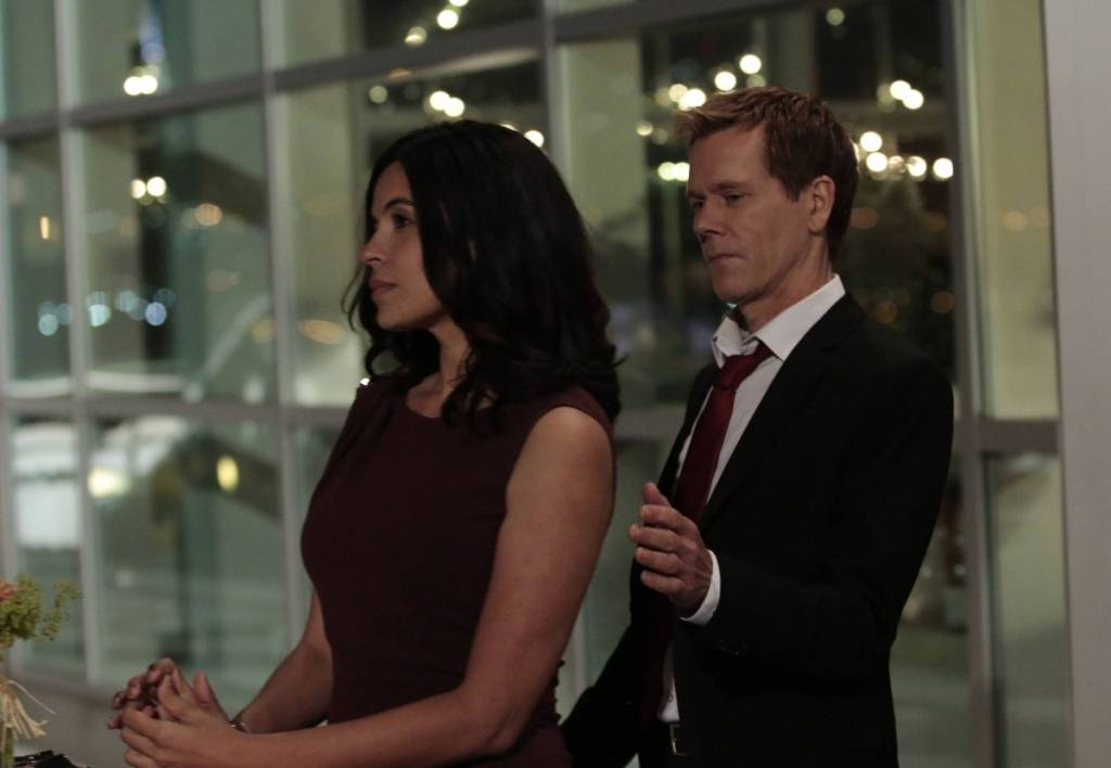 Zuleikha Robinson and Kevin Bacon on season three of Fox's 'The Following'