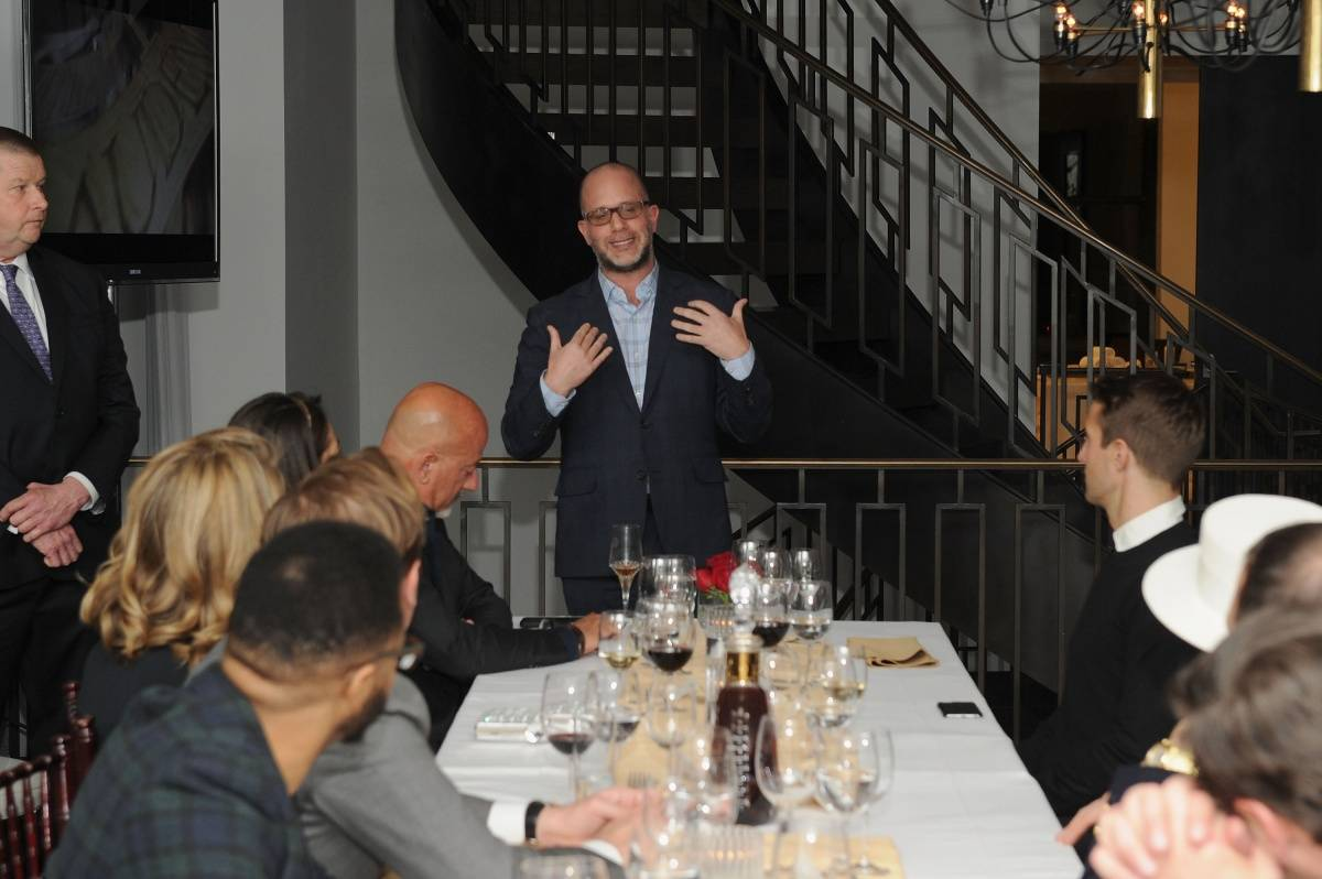 Historian and Global Brand Ambassador at Audemars Piguet Michael L. Friedman speaks during Haute Time collectors dinner