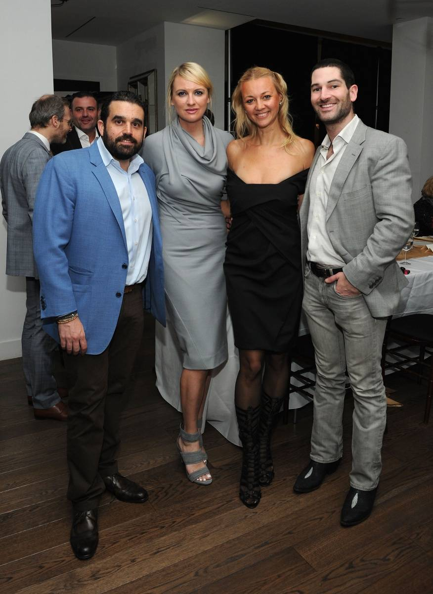 (L-R) Publisher of Haute Living and Haute Time Magazine Seth Semilof, Lana Smith, Alisa Roever and Shaun Cain