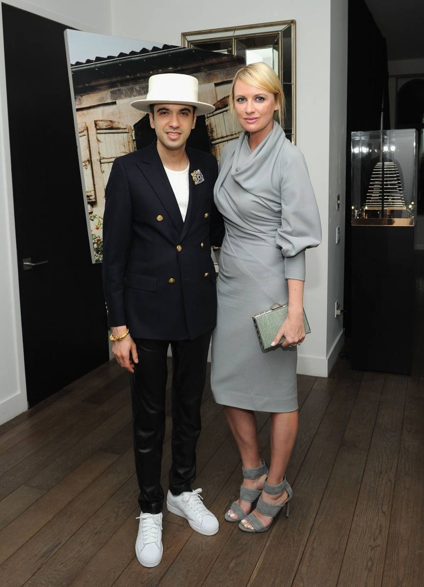 DJ Cassidy (L) and Lana Smith attend Haute Time collectors dinner