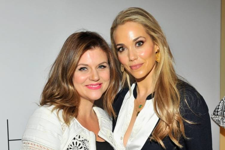Tiffani Thiessen and Elizabeth Berkley Lauren reunite