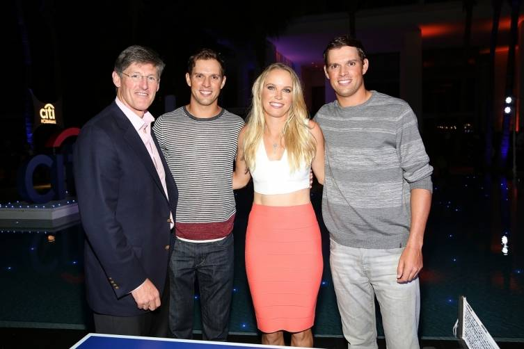 Citi Global CEO Michael Corbat, Mike Bryan, Caroline Wozniacki and Bob Bryan