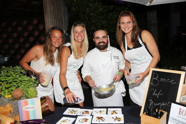 Chef Nunzio Fuschillo of Bocce with 2015 Miami Open Tennis Pros