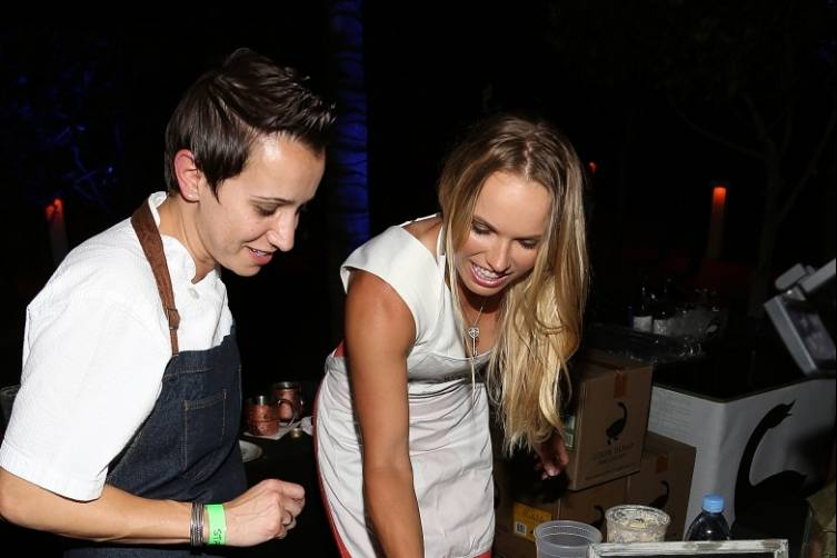 Executive Chef Paula DaSilva of 3030 Ocean with Caroline Wozniacki