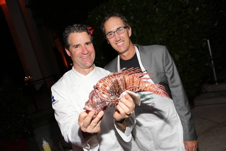 Chef Kerry Heffernan and Darren Cahill