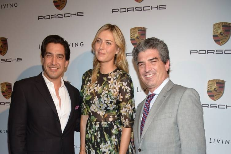Andres Asion, Maria Sharapova and Carlos Rosso