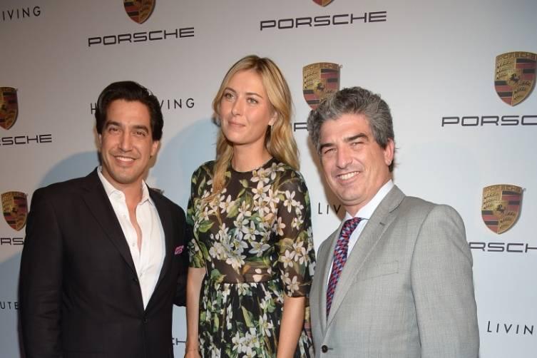 Andres Asion, Maria Sharapova and Carlos Rosso
