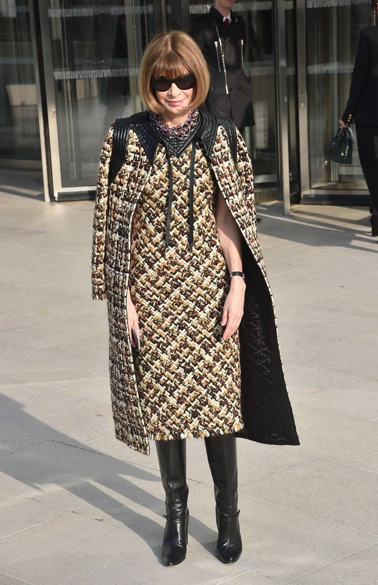 Anna Wintour outside of the Louis Vuitton fall 15 fashion show. Photo Courtesy of Louis Vuitton