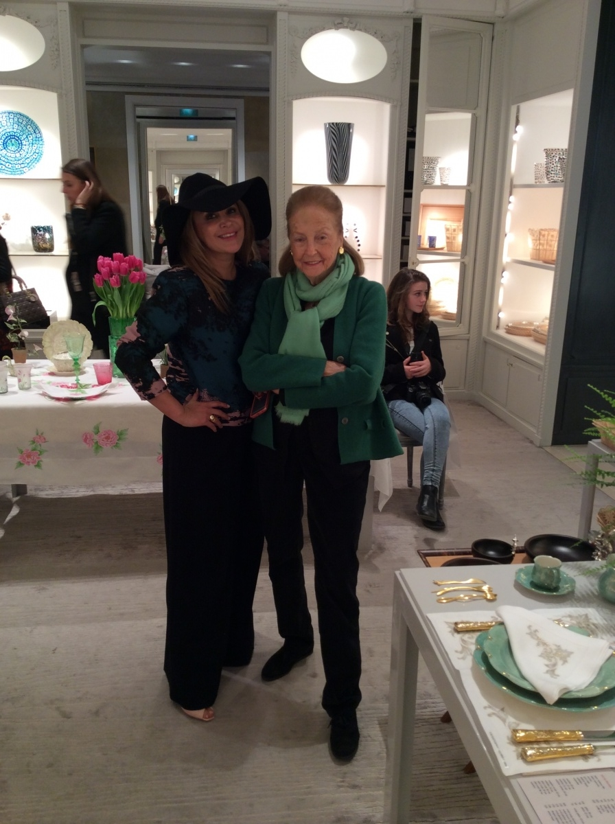 Brenda Zarate with Madam Doris Brynner the face behind Dior's home and gifts department
